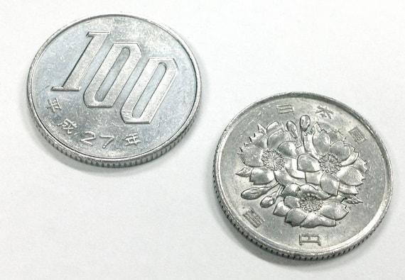 100円玉2枚で200円
